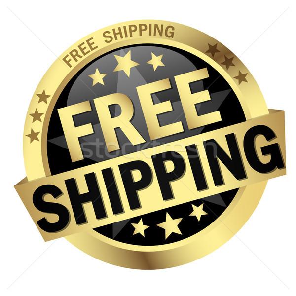 Button Free Shipping Stock photo © opicobello