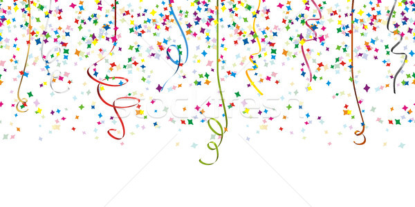 seamless confetti and streamer party background Stock photo © opicobello