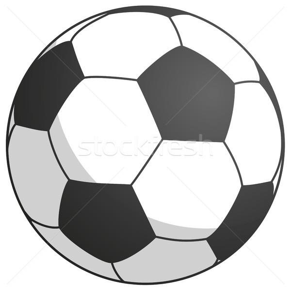 black-white football - simply vector illustration Stock photo © opicobello