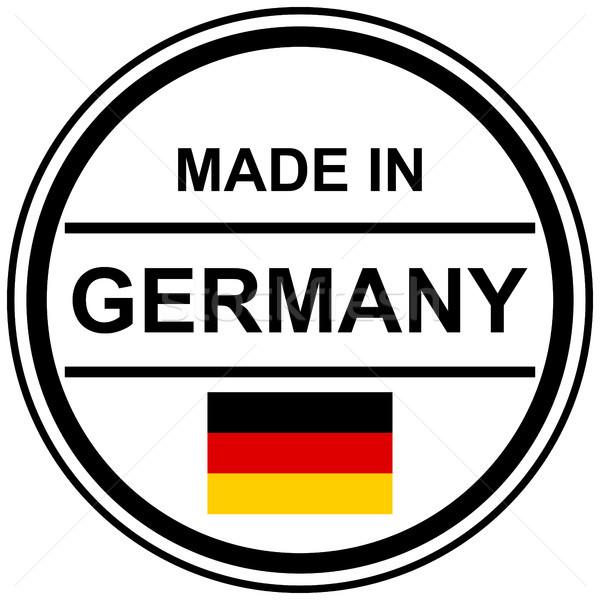 Carimbo Alemanha texto país bandeira marketing Foto stock © opicobello