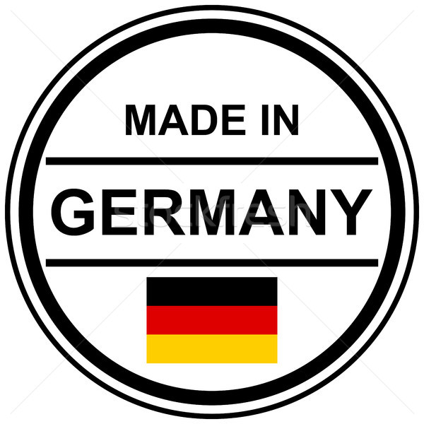 Stempel Duitsland tekst land vlag marketing Stockfoto © opicobello