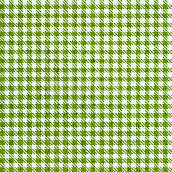Grunge kockás minták zöld textúra háttér Stock fotó © opicobello