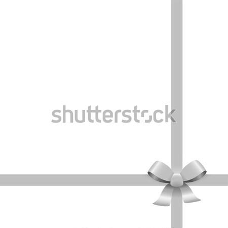Argento nastro arco nastri colorato isolato Foto d'archivio © opicobello