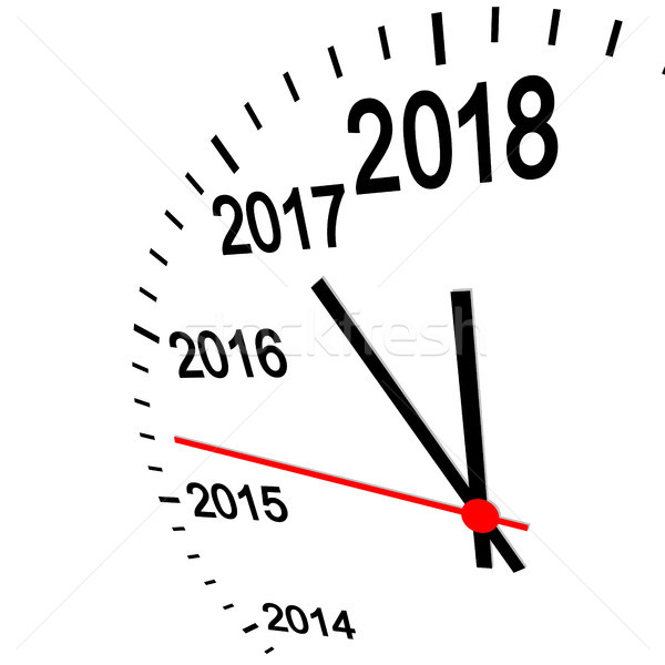 new year 2018 clock Stock photo © opicobello