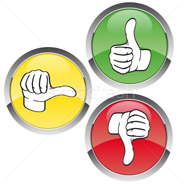 投票 にログイン 赤 ボタン 黄色 投票 ストックフォト © opicobello