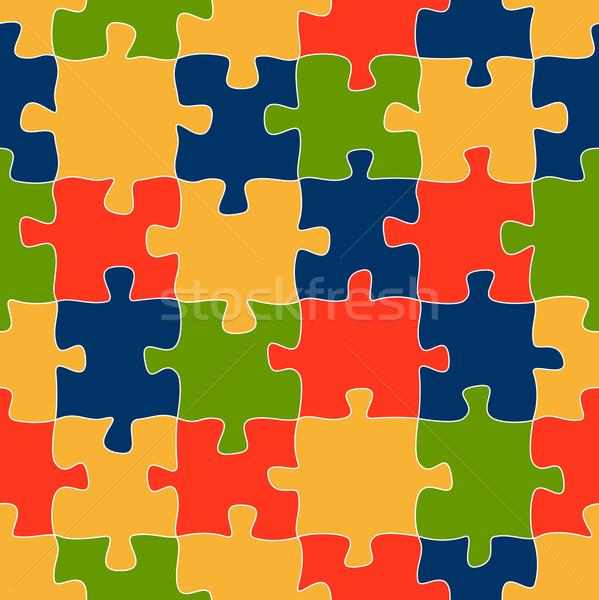 Puzzle pattern background colored - endless Stock photo © opicobello