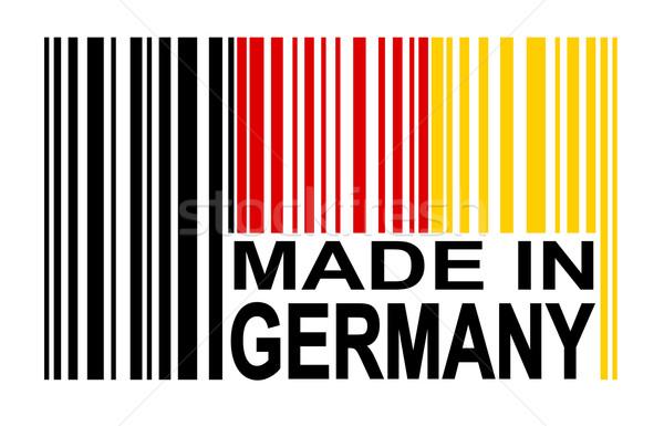 штрих Германия красный черный Европа стране Сток-фото © opicobello