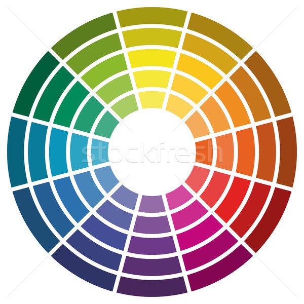 color wheel with twelve colors Stock photo © opicobello