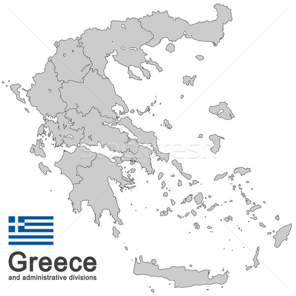 Greece and administrative divisions Stock photo © opicobello