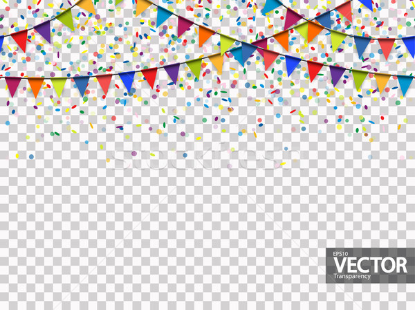 Naadloos guirlande confetti vector gekleurd partij Stockfoto © opicobello