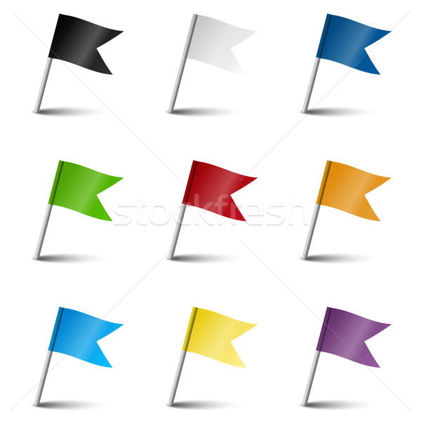 Collection of marking accessories - marking flags Stock photo © opicobello