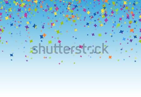 Confete azul festa festival aniversário Foto stock © opicobello