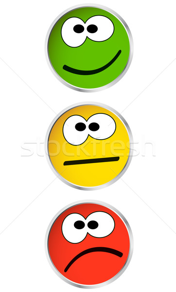 Pro / Contra buttons with face Stock photo © opicobello