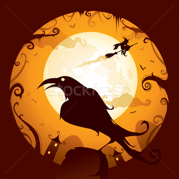 Halloween - Crow Stock photo © ori-artiste