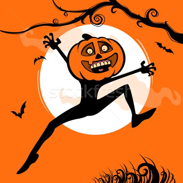 Хэллоуин удивление тыква человека прыжки вверх Сток-фото © ori-artiste