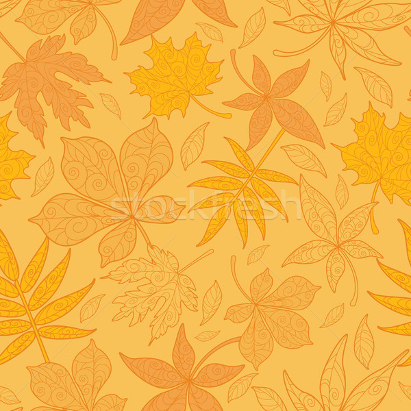 Seamless Patterned Maple Leaves Stock photo © ori-artiste