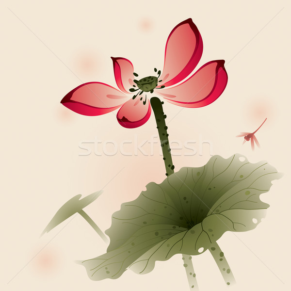 стиль Lotus Живопись щетка Сток-фото © ori-artiste