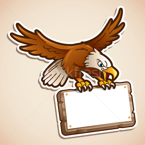орел знак Cartoon иллюстрация Сток-фото © ori-artiste