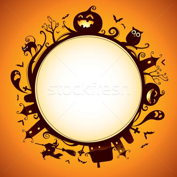 Хэллоуин границе дизайна широкий иллюстрация Сток-фото © ori-artiste