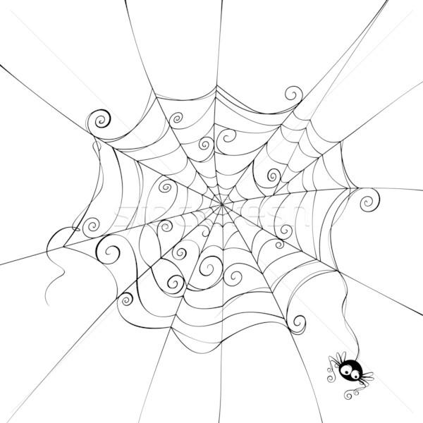 Ijesztő pókháló izolált jókedv út Stock fotó © ori-artiste