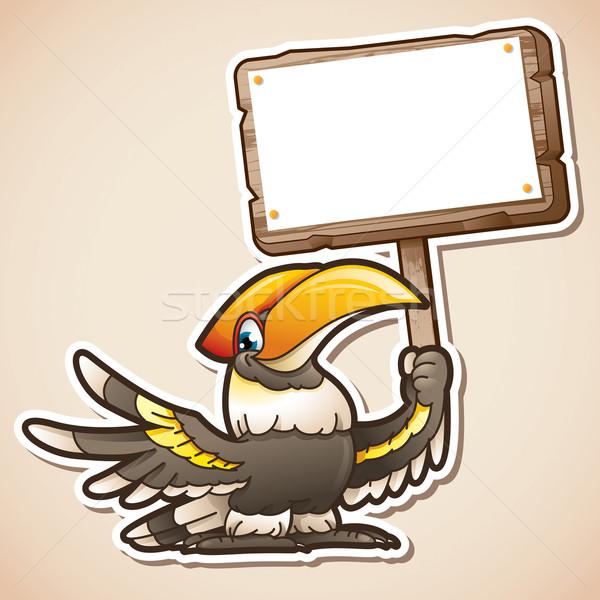 знак Cartoon иллюстрация Сток-фото © ori-artiste