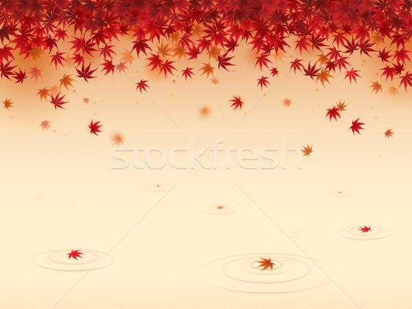 Piros juhar levelek zuhan el fölött Stock fotó © ori-artiste
