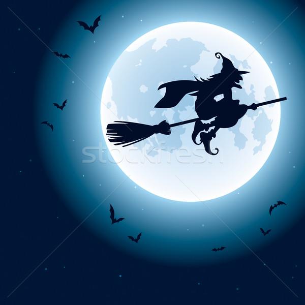 ведьмой Flying луна Сток-фото © ori-artiste