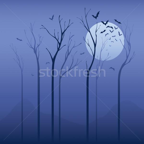 Ijesztő éjszaka halloween aszalt fa puha Stock fotó © ori-artiste