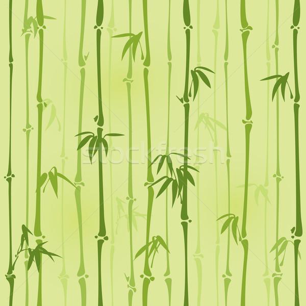 Végtelenített bambusz minta csempe Stock fotó © ori-artiste