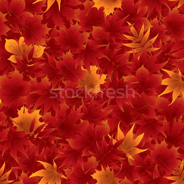 бесшовный красный клен листьев шаблон плитка Сток-фото © ori-artiste