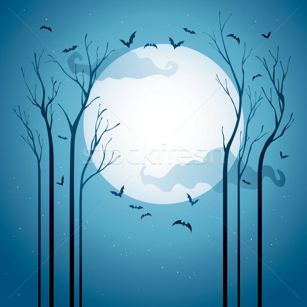 Хэллоуин ночь сушат деревья Сток-фото © ori-artiste