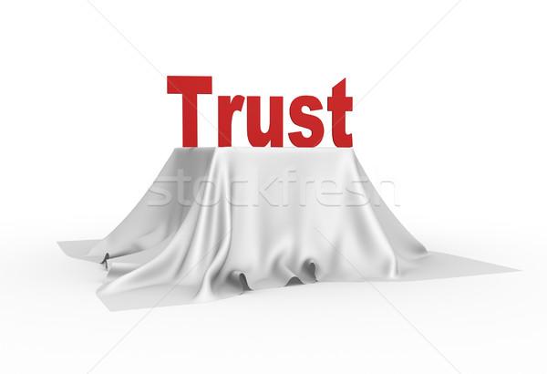 Confiance 3D icône blanche nappe design Photo stock © orla