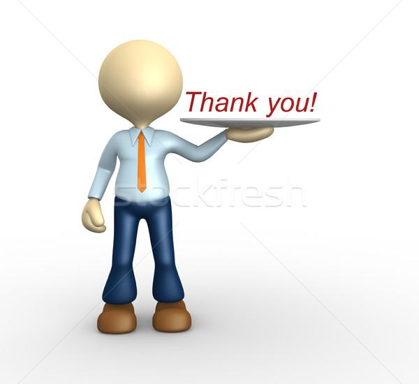 Merci gens 3d homme personne mot Photo stock © orla