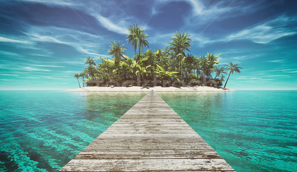 Deserted tropical paradise Stock photo © orla