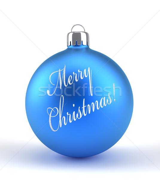 Blue Christmas ornament  Stock photo © orla