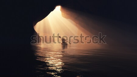 Boat in cave.  Stock photo © orla