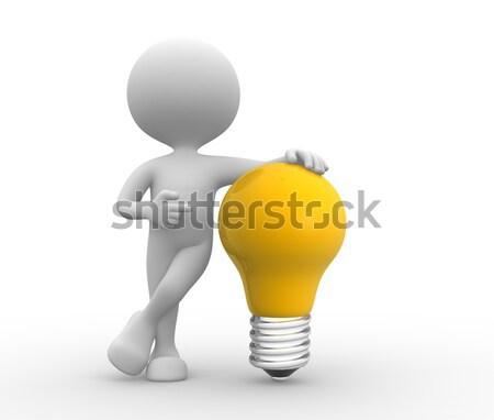 Yellow light bulb Stock photo © orla