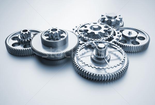 Engins mécanisme rendu 3d illustration affaires travaux Photo stock © orla