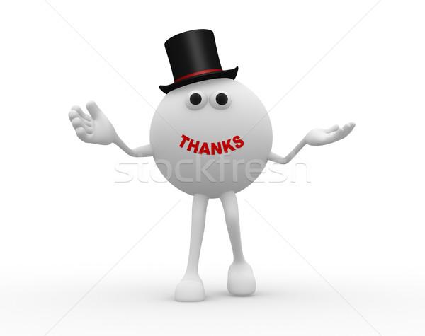 Köszönet 3D gömb szó terv háttér Stock fotó © orla