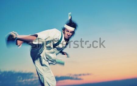 Karate uniform beweging effect Stockfoto © orla