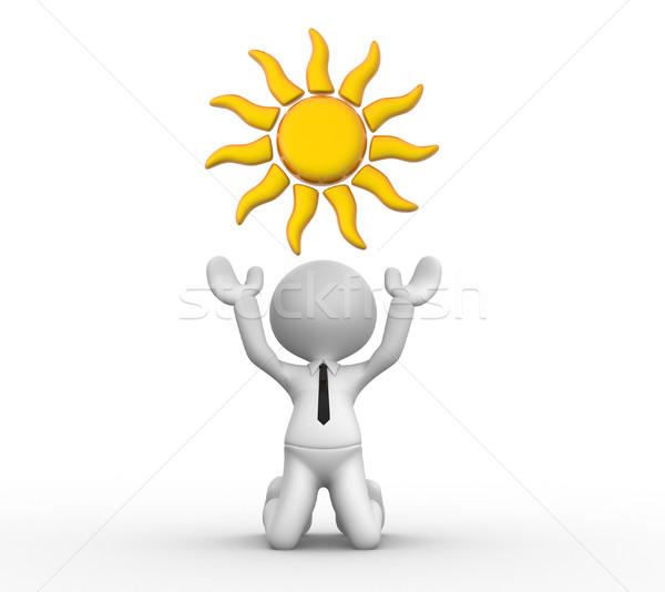 Słońce 3d osób człowiek osoby działalności projektu Zdjęcia stock © orla