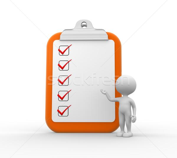 Clipboard and checklist Stock photo © orla