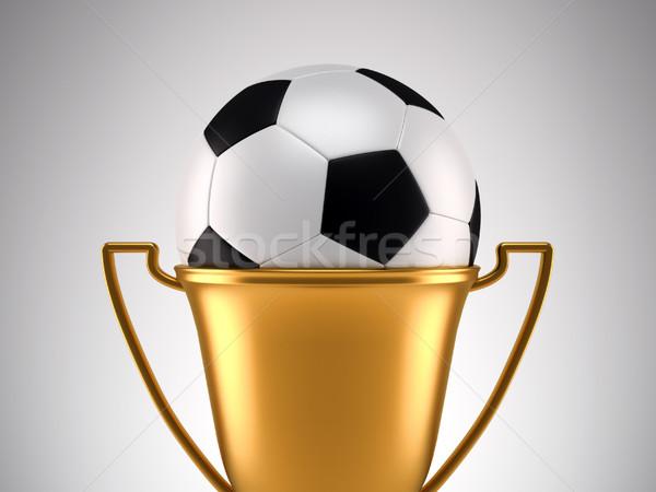 Fotball trophy Stock photo © orla