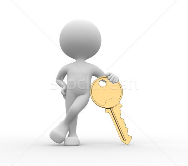 Golden key Stock photo © orla