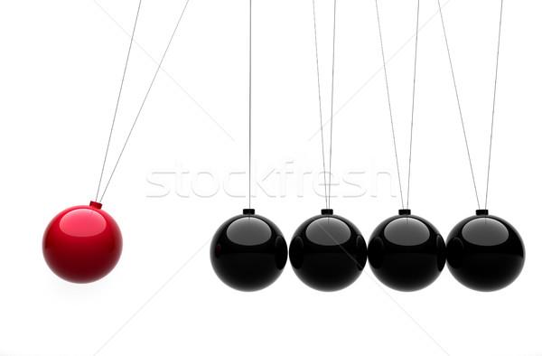Wiege 3d render Illustration Gruppe Muster Gleichgewicht Stock foto © orla