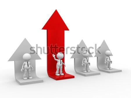 矢印 3次元の人々 男 人 グラフ ビジネスマン ストックフォト © orla