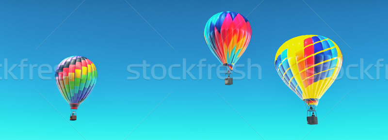 The hot air balloons in blue sky.  Stock photo © orla