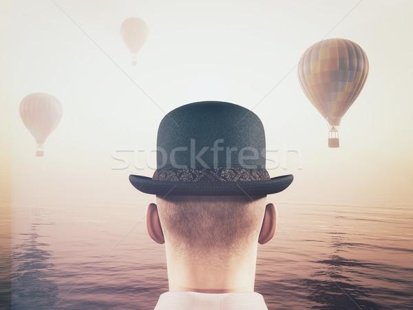 Homem quente ar balões Foto stock © orla