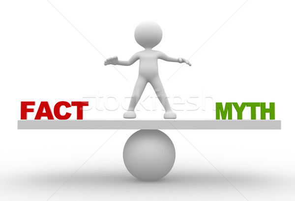 'Facts' and 'myths' on balance scale  Stock photo © orla