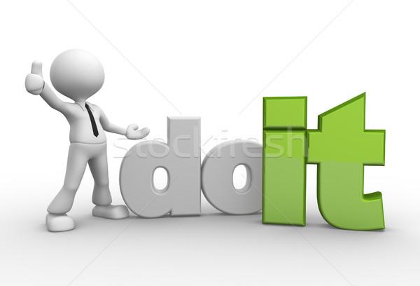 3d mensen man persoon woord mannen team Stockfoto © orla
